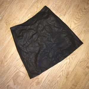 Loft Leather Skirt